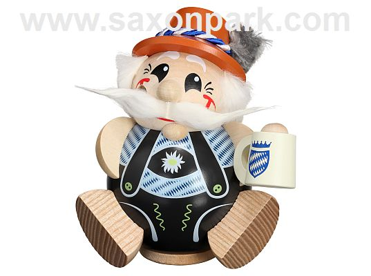 Seiffen Handcraft - Ball-shaped incense Figure Bavarian