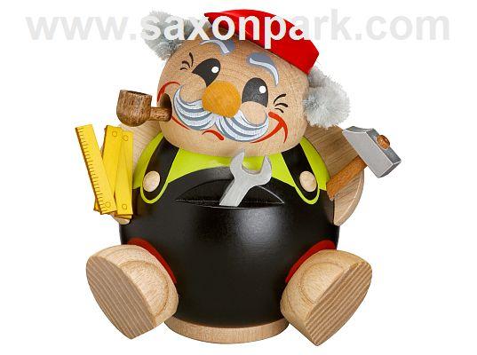 Seiffener Volkskunst - Kugelräucherfigur Heimwerker