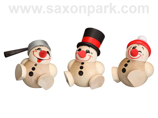 Seiffen Handcraft - Ball-shaped Figure Cool Man, Set of Three