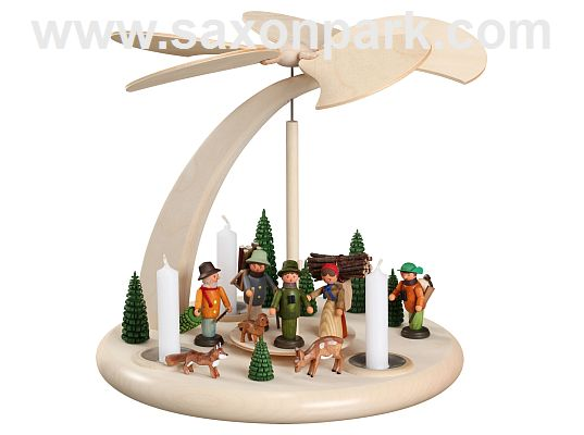 Seiffen Handcraft - Pyramid Arch Pyramid, In the Forest for candles