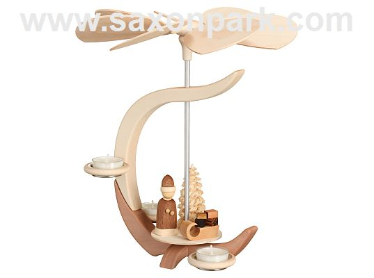 Seiffen Handcraft - Pyramid Pyramid C-Shape, Santa Claus