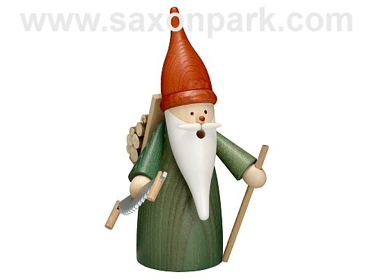 Seiffen Handcraft - Incense Figure Forest Gnome