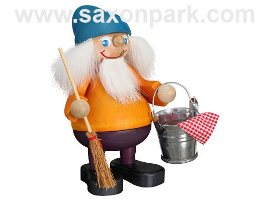 Seiffen Handcraft - Incense Figure Cleaning Brownie
