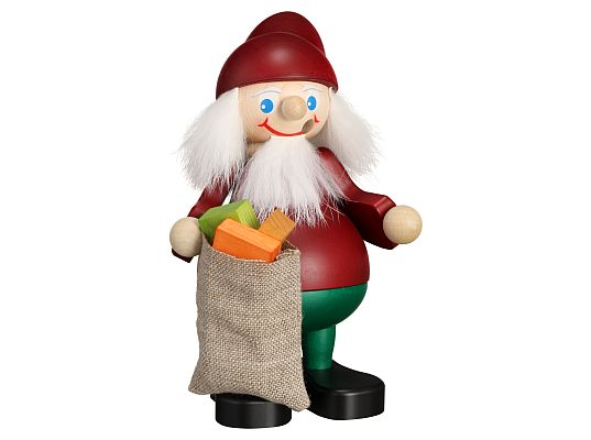 Seiffen Handcraft - Incense Figure Christmas Brownie with Gift Bag