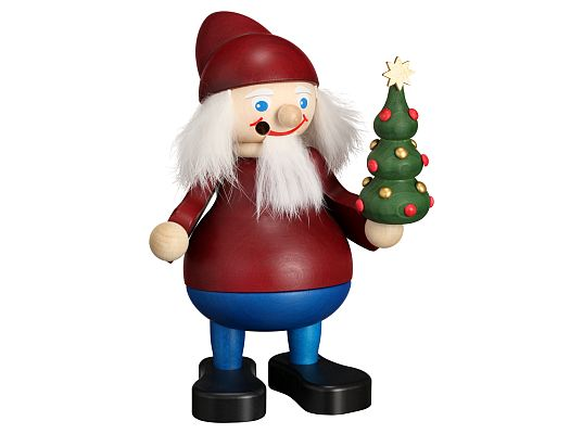 Seiffen Handcraft - Incense Figure Christmas Brownie with Tree