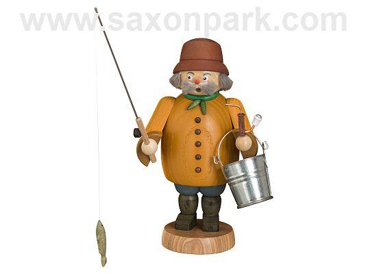 Seiffen Handcraft - Incense Figure Fisherman