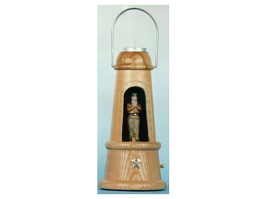 Mothes - minerslampe with tin figure foreman carrier (musik box, painted)