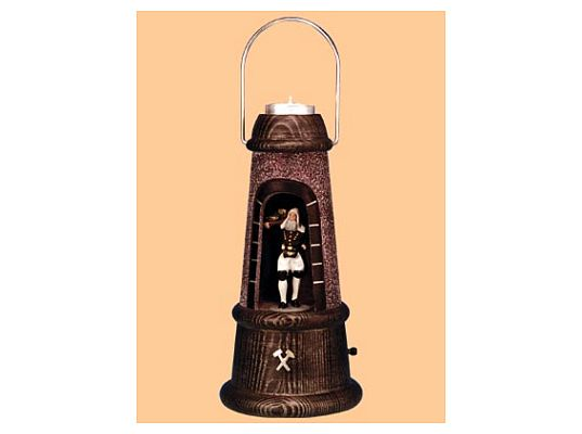 Mothes - minerslampe with tin figure foreman carrier (painted)
