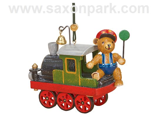 Hubrig - hanging locomotive with teddy bear