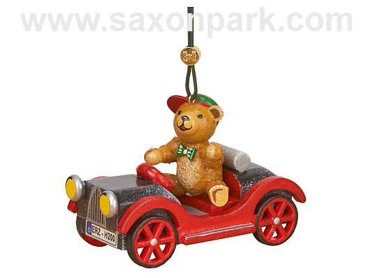 Hubrig - hanging car with teddy bear