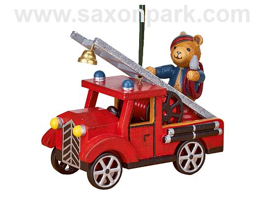 Hubrig - Hanging Fire truck with Teddy