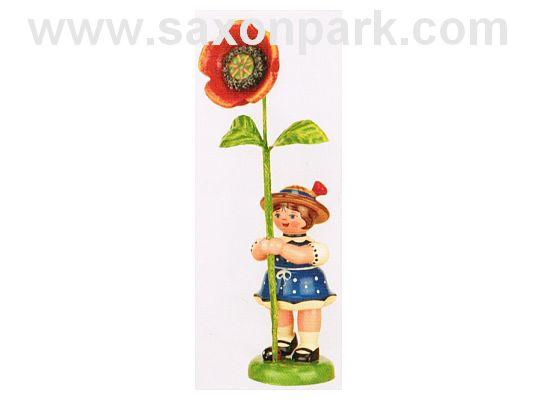 Hubrig - Flower girl with Poppy