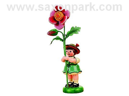Hubrig - flower child girl with wild rose