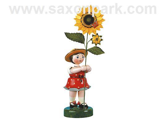 Hubrig - Blumenmädchen rot mit Sonnenblume
