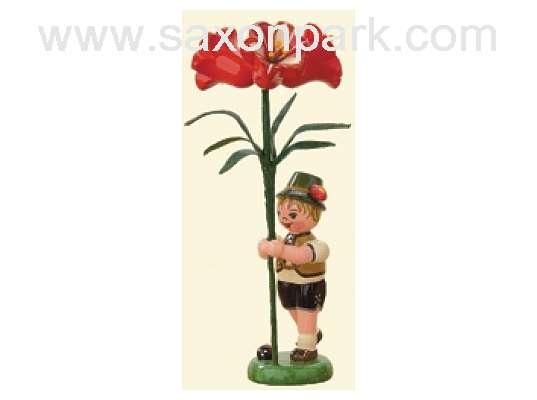 Hubrig - Flower boy with Amaryllis