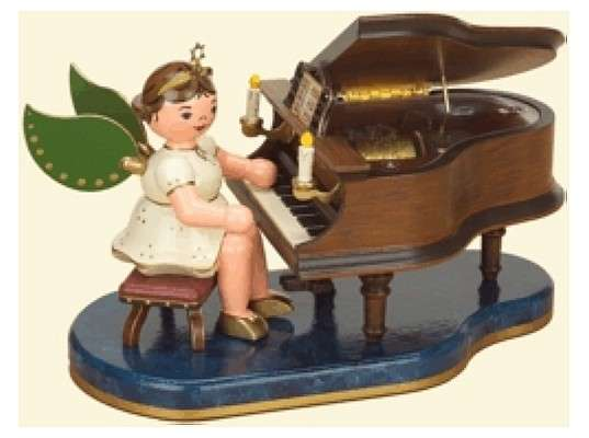 Hubrig - Angel at the piano with 22 Music Box