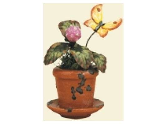 Hubrig - flower pot clover flower (3 pieces)