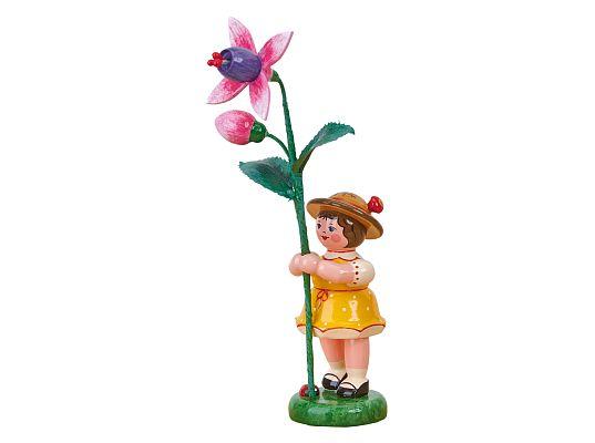 Hubrig - Flower child girl with fuchsia
