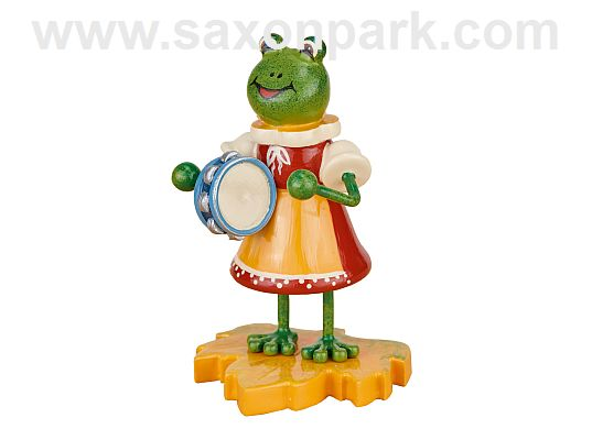 Hubrig - frog - girl with tambourine