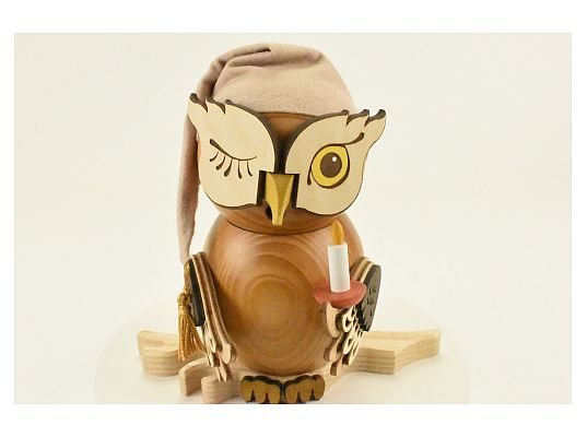 Kuhnert - smoker Owl sleepy head (with video)