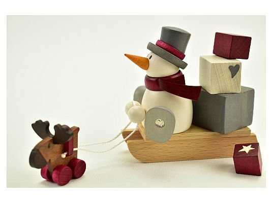 Hobler - snowman Otto with sledges and presents
