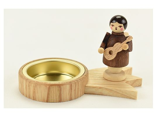 Unger - candleholder for tea light - angel with guitar