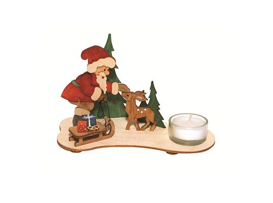 Kuhnert - craft kit tea light candleholder Santa Claus