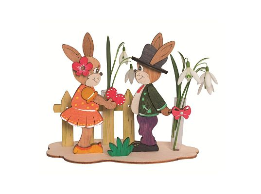 Kuhnert - craft kit bunnies with flower
