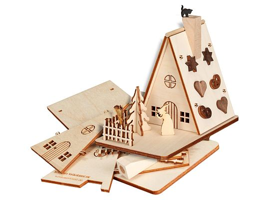 Seiffen Handcraft - Wooden Kit Wooden House Kit, Old Witchs House Incense Smoker