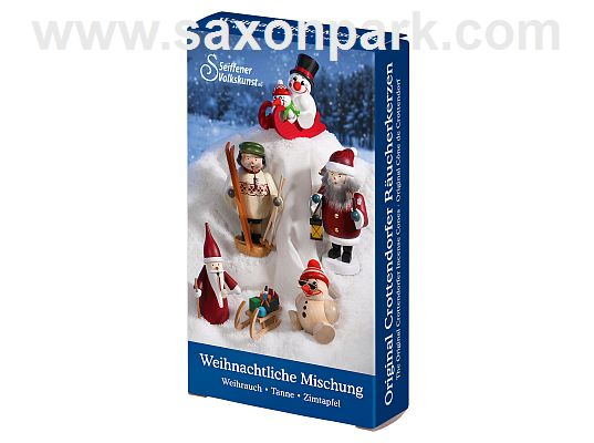 Seiffen Handcraft - Incense cones Variety Pack Christmas