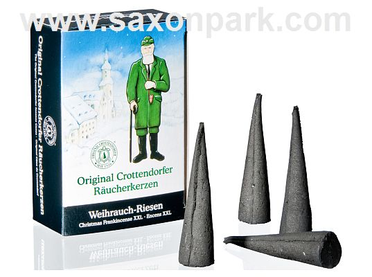 Seiffen Handcraft - Incense cones Christmas Frankincense, XXL, 4pc.