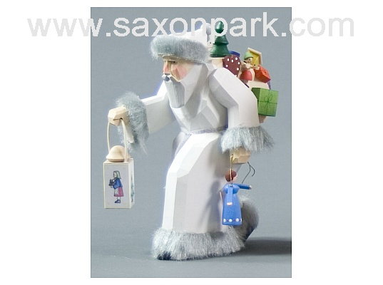 St Nicholas with coat white carved (with video)
